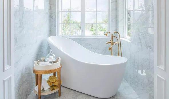 banheira de hidro especial curva