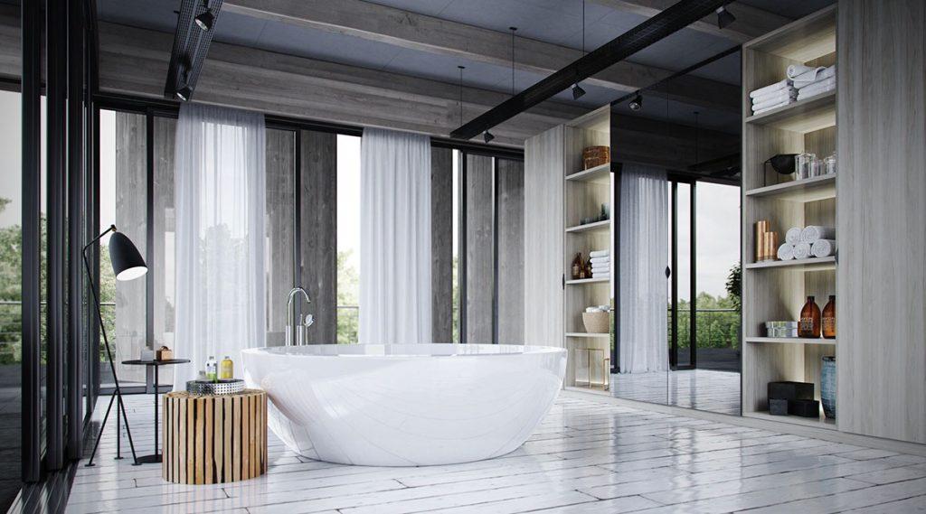 banheira moderna para banheiros