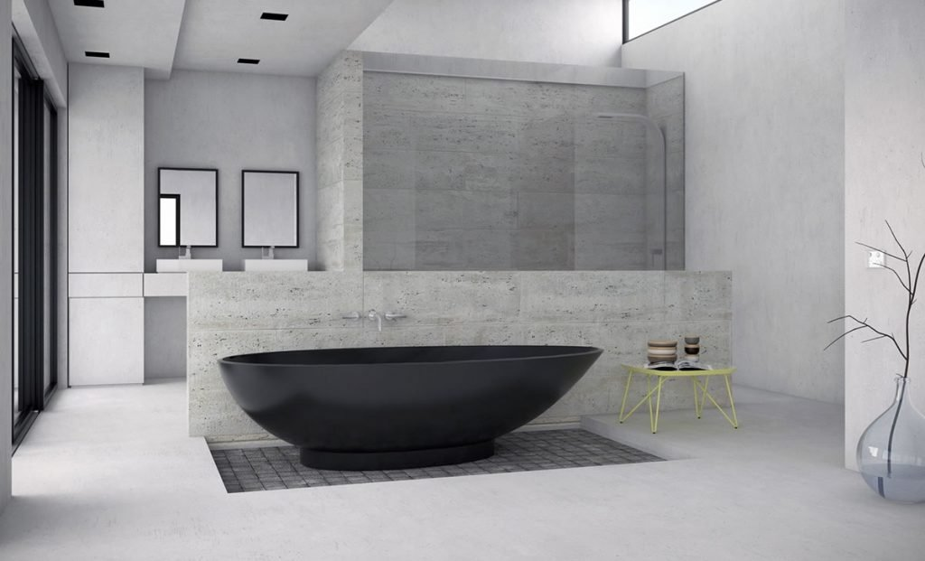 banheira preta de imersao
