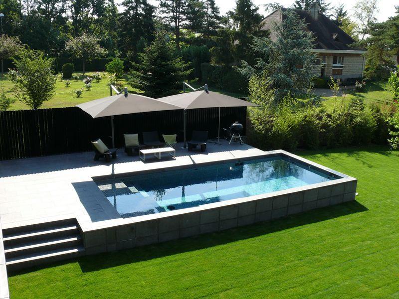 piscina de alvenaria acima do solo