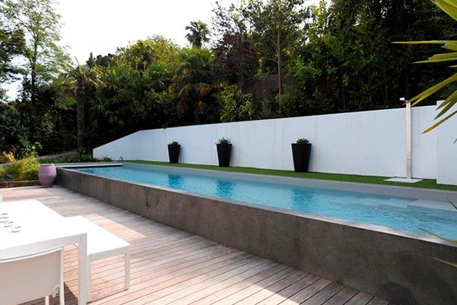 piscina raia acima do solo