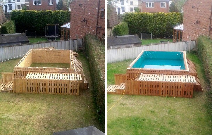 piscina de palete